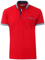 Ottomoda Burgundy Short Sleeve Polo Shirt