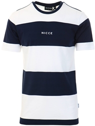 Nicce White Deep Navy Banda T-Shirt