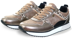Xti Bronze Animal Print Trainers