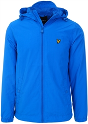 Lyle & Scott Bright Cobalt Zip Through Hooded Jacket
