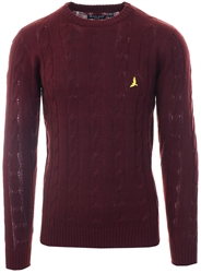 Oxblood Crew Knit Sweater by Brave Soul