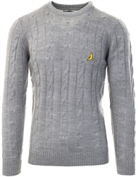 Brave Soul Silver Grey Marl Crew Knit Sweater