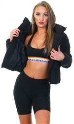 Black Dolly Puffer Jacket by Only