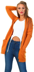 Pumpkin Spice Basic Knitted Cardigan by Vila