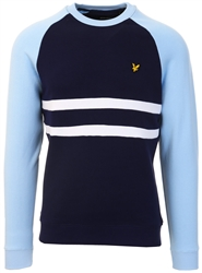 Lyle & Scott Navy/Pool Blue Raglan Sweater