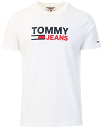 Tommy Jeans White Organic Cotton Logo T-Shirt