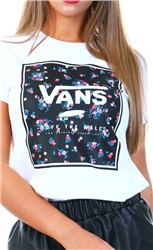 Vans White Boxed In Crew Tee