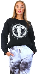 Black Zodiac Crew Sweater by Missi London