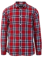 Tommy Jeans Wine Red Faded Check Shirt