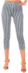 Cutie London Black/White Gingham Leggings