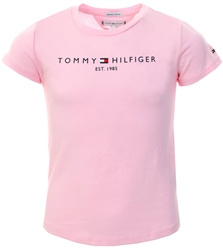 Tommy Jeans Romantic Pink Junior Essential Organic Cotton Logo T-Shirt