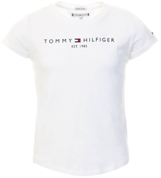 Tommy Jeans White Junior Essential Organic Cotton Logo T-Shirt