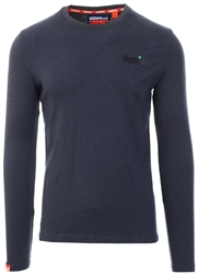 Superdry Hot Magma Orange Label Long Sleeve Jumper