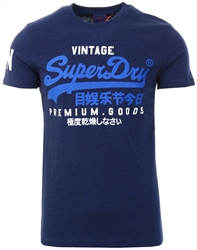 Superdry Midnight Blue Vintage Logo Printed T-Shirt