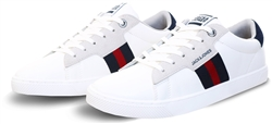 Jack & Jones White / White Faux Leather Sneakers