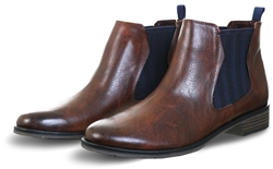 Marco Tozz Cafe Ant Comb Chelsea Boot