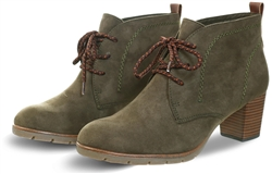 Marco Tozz Khaki Lace Up Boot