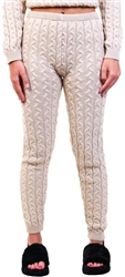 Stone Cable Knit Leggins by Vivichi