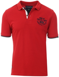 Tokyo Laundry Red Dahlia Herstmonceux Cotton Pique Polo Shirt