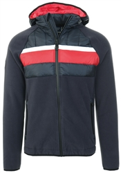 Superdry Nautical Navy Chestband Hybrid Zip Through Jacket