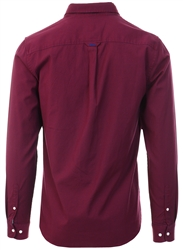 Superdry Burgundy Mini Grid Classic University Oxford Shirt