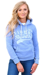 Superdry Light Blue Pull Over Printed Hoodie