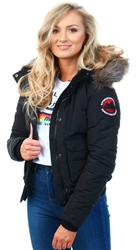 Superdry Black Everest Ella Bomber Jacket