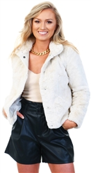 Only Pumice Stone Vida Faux Fur Jacket