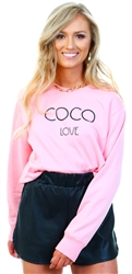 Missi Lond Pink Coco Love Sweat