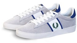 Fred Perry Light Grey Spencer Suede Trainer