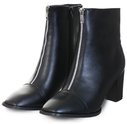 Krush Black Zip Front Boot