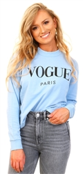 Blue Blue High Neck Vogue Top by Missi Lond