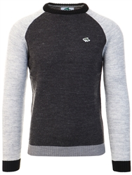 Le Shark Charcoal Hodgins Long Sleeve Knit Sweater