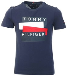 Tommy Jeans Twilight Navy Sticker Logo Organic Cotton T-Shirt