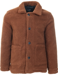 Brave Soul Dark Tan Moston Teddy Jacket