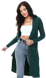Green / Pine Grove Open Knitted Cardigan by Vila
