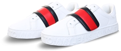Tommy Jeans White Colour-Blocked Strap Trainers