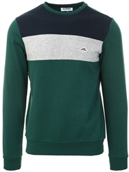 Dune Bug Paul Colour Block Cotton Blend Fleece Sweatshirt by Le Shark