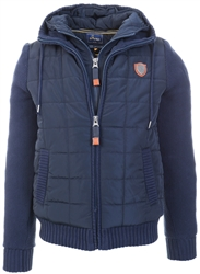Xv Kings Classic Navy Cape Breton Double Zip Coat