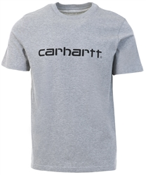 Carhartt Grey Heather / Black Short Sleeve Script T-Shirt