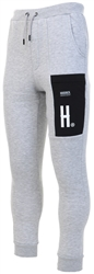 Hoodrich Grey / Black Og Statement Joggers