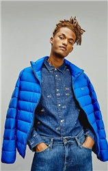 Tommy Jeans Providence Blue Packable Down Jacket