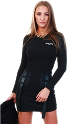 Black Tactical Buckle Dress by Sixth June