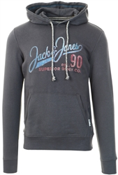 Ombre Blue Organic Cotton Blend Hoodie by Jack & Jones