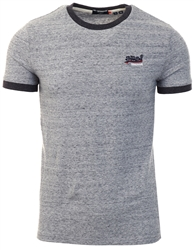 Superdry Collective Dark Grey Grit Orange Label Ringer T-Shirt