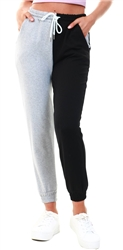 Parisian Black Grey Two Tone Colour Block Jogging Trousers