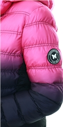 Goodfornothing Pink Element Gradient Pink Puffer Jacket