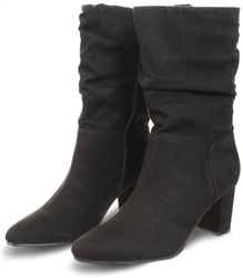 DV8 Black Slouch Pointed Heel Boot