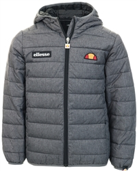 Dark Grey Marl Padded Zip Up Jacket by Ellesse