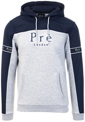 Navy /Grey Marl Eclipse Nylon Hoodie by Pre London